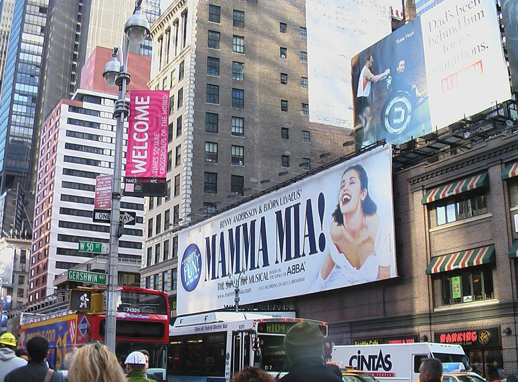 Mamma Mia left Broadway in 2015, but is currently touring the U.S.